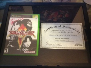 Signed Soul Calibur 2 by Greg Capullo